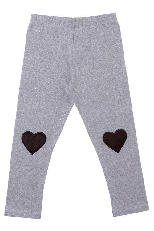 Calça Feminina Infantil Legging  Corações