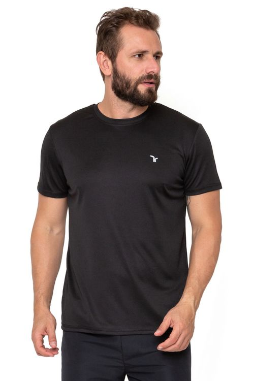 Camiseta Masculina Manga Curta Esportiva Preta