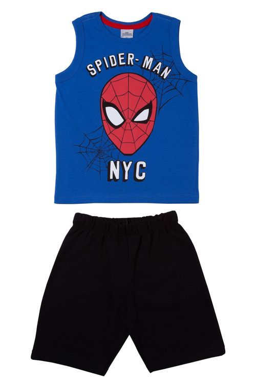 Conjunto Shorts e Regata Estampada Spider-Man