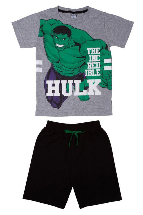 Conjunto Infantil Shorts e Manga Curta Hulk