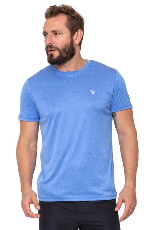 Camiseta Masculina Manga Curta Esportiva Azul