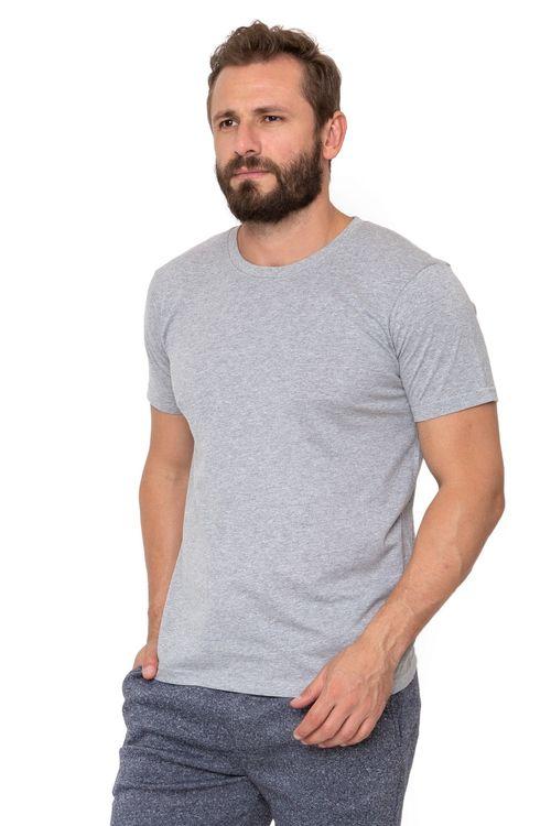 Camiseta Masculina Cinza Básica