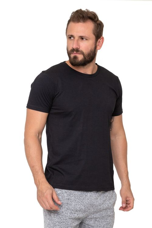 Camiseta Masculina Básica Preta