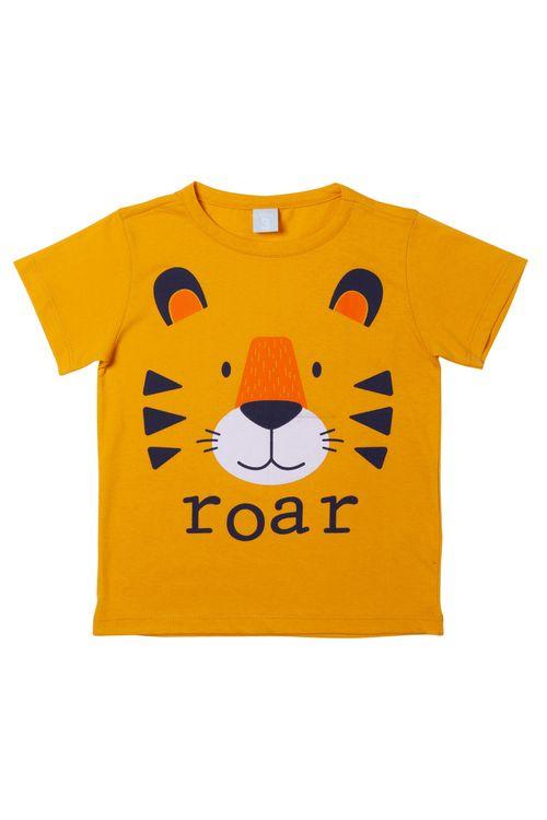 Camiseta Infantil Estampada Leão