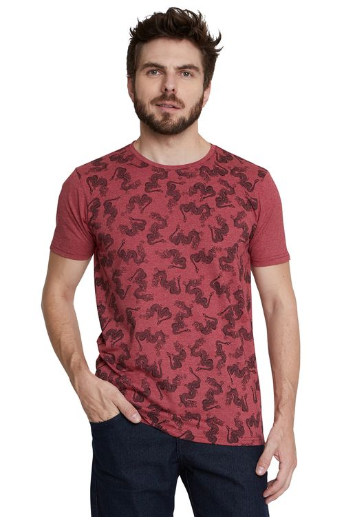 Camiseta Masculina Estampada Dragões