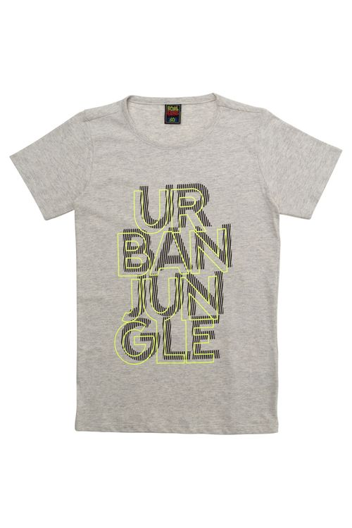 Camiseta Juvenil Masculina Urban Jungle Cinza
