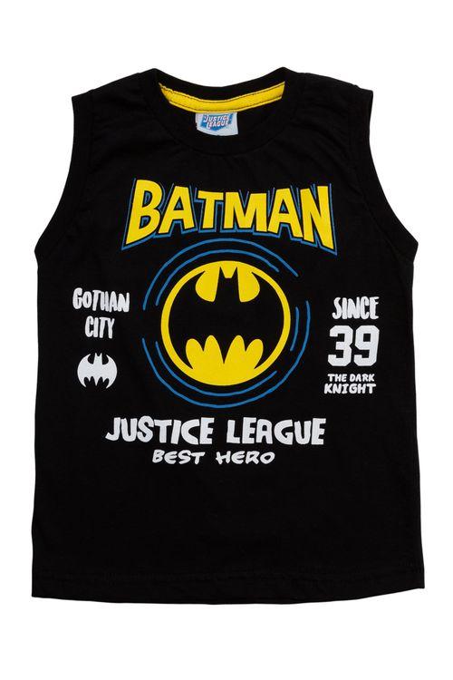 Regata Infantil Masculina Batman Preta