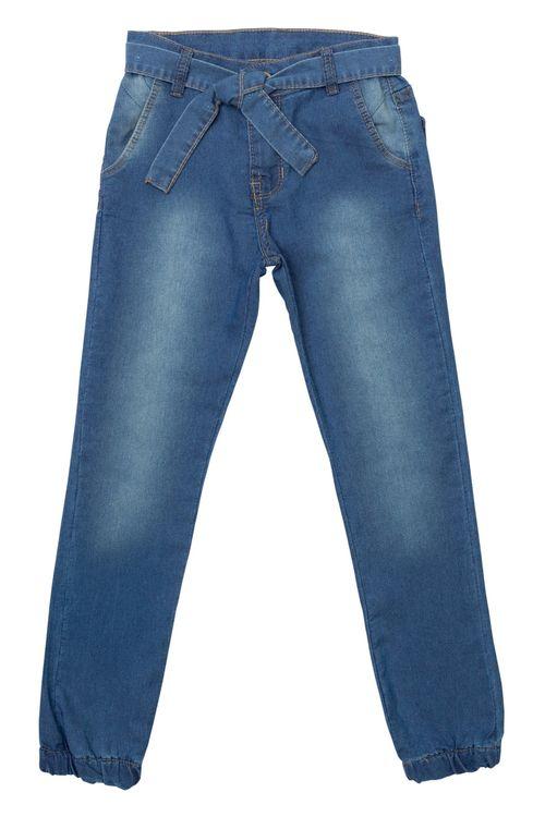 Calça Jeans Infantil Feminina Jogger