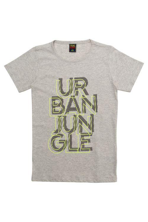 Camiseta Juvenil Masculina Urban Jungle Cinza