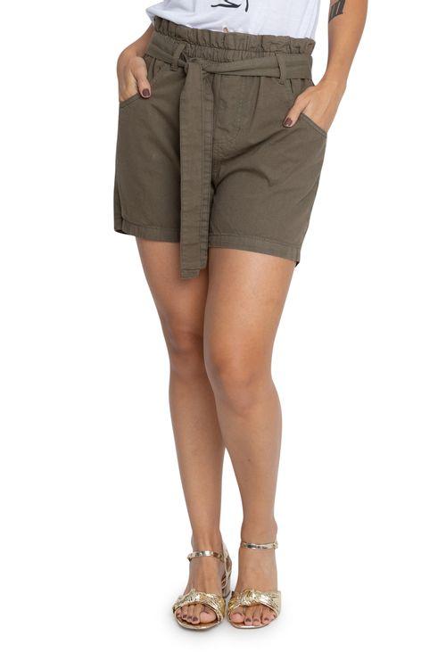Shorts de Sarja Feminino Clochard Militar