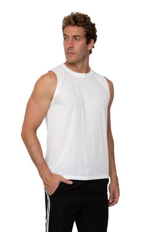 Regata Masculina Esportiva Branca