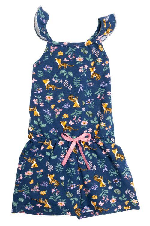 Macaquinho Infantil Feminino Floral Tigre