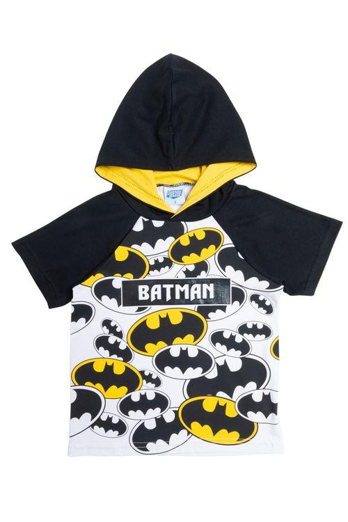Camiseta Infantil Masculina Batman  Raglan Capuz