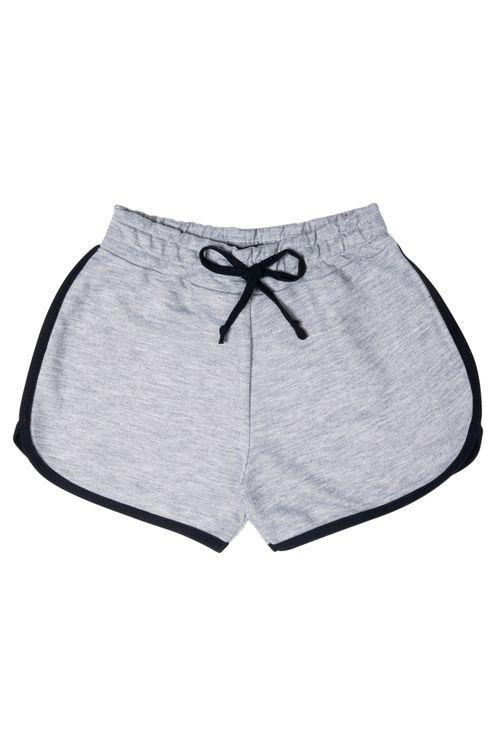Shorts Juvenil Feminino Cinza