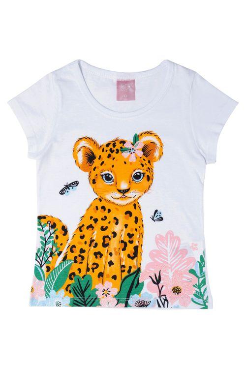 Blusa Infantil Feminina Baby Tiger Branca