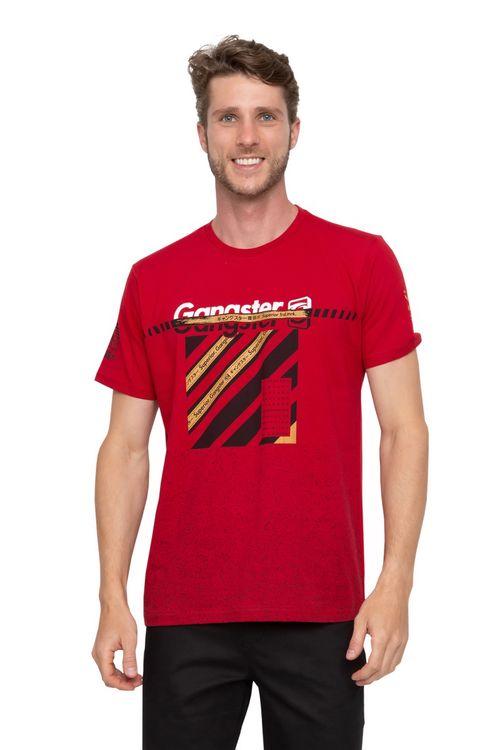 Camiseta  Masculina Superior Gangster Vermelha