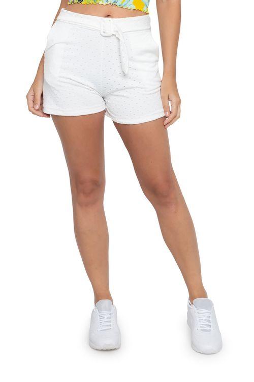 Shorts Feminino Laise Cinto Branco
