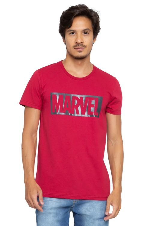 Camiseta Masculina Marvel Vermelha