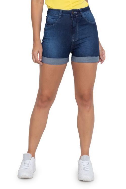 Shorts Jeans Feminino Meia Coxa