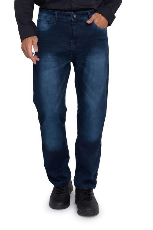 Calça Jeans Masculina Escura Slim Amaciado