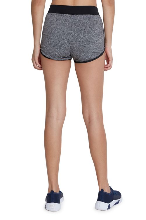 Shorts Feminino Esportivo Cinza e Preto