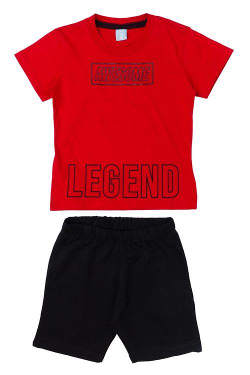 Conjunto Infantil Masculino Legend Vermelho