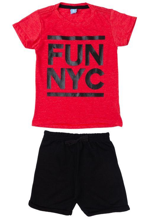 Conjunto Infantil Masculino Fun NYC Vermelho