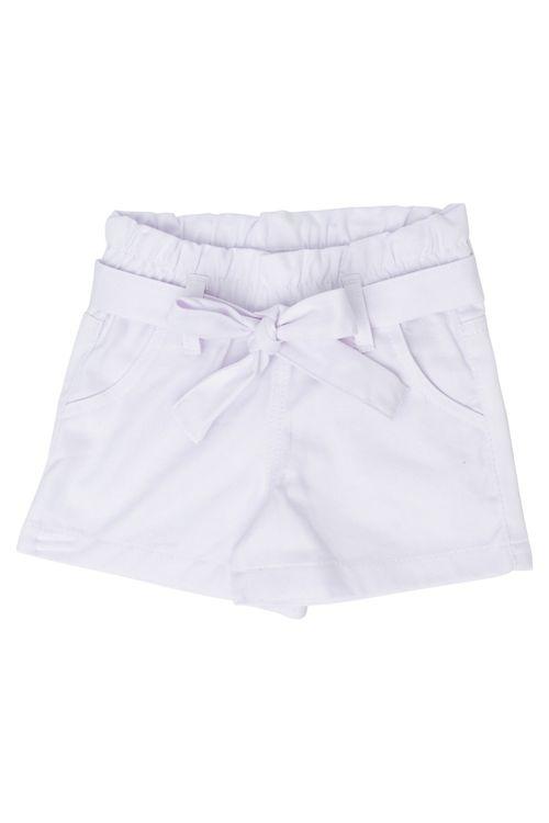 Shorts Infantil Feminino Clochard Branco