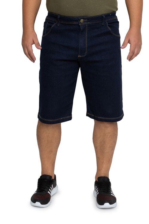 Bermuda Jeans Masculina Slim Básica Escuro