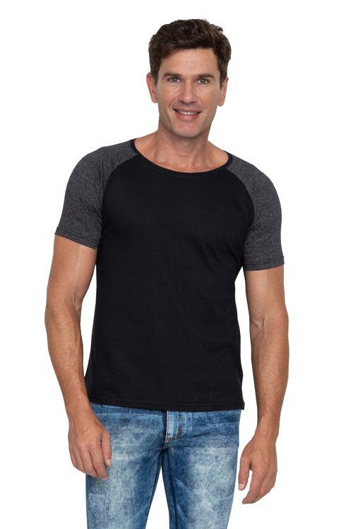 Camiseta Masculina Mescla Preta