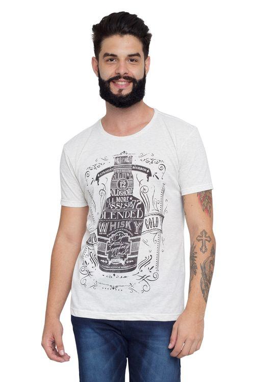 Camiseta Masculina Whiskey Branca