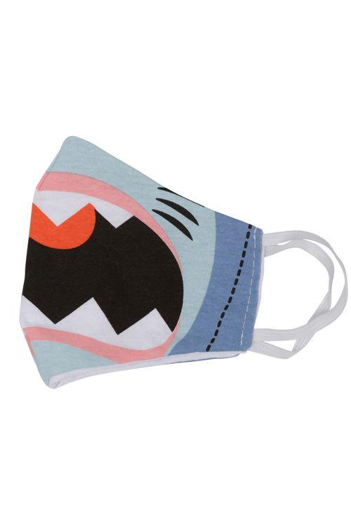 Máscara Infantil de Proteção Tubarão Azul