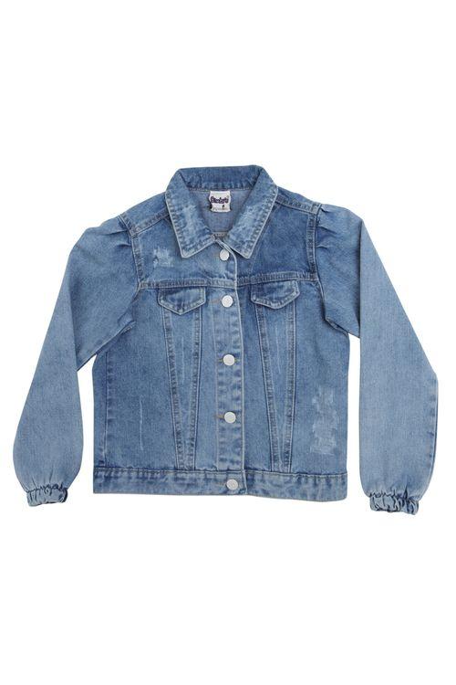 Jaqueta Infantil Feminina Jeans