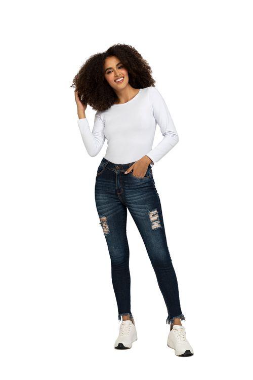 Calça Jeans Feminina Skinny Rasgos