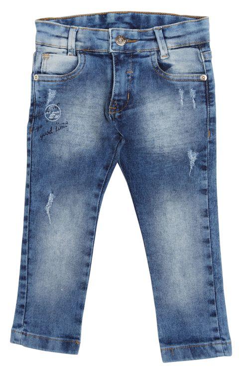 Calça Jeans Infantil Masculina Descarregada