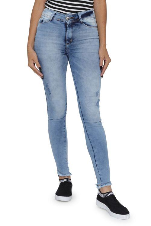 Calça Feminina Jeans Skinny Cintura Alta