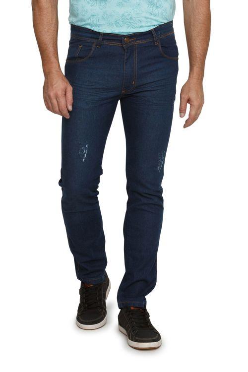 Calça Jeans Escura Masculina Reta