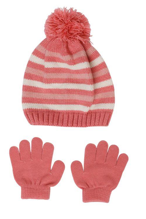 Kit Gorro e Luvas Infantis Laranja