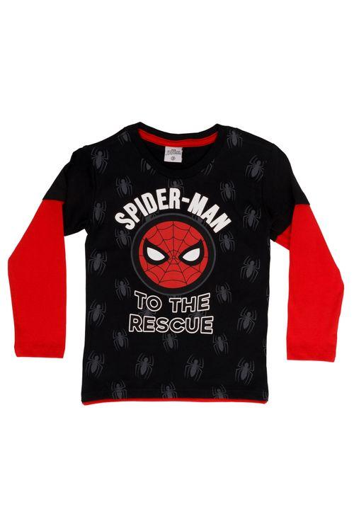 Camiseta Infantil Masculina Homem Aranha Bicolor