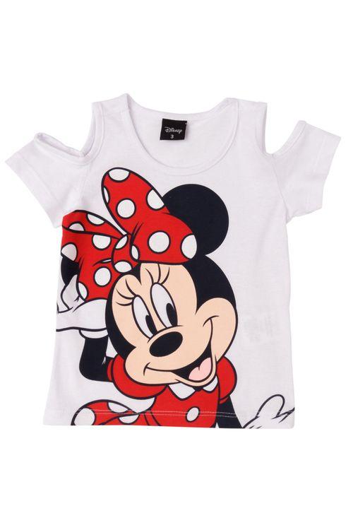 Camiseta Feminina Infantil Estampa Minnie