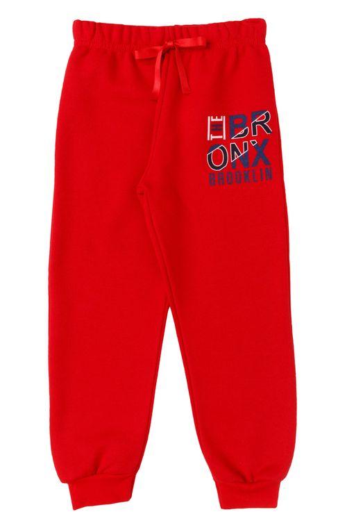 Calça Infantil Masculina Jogger Bronx Vermelha