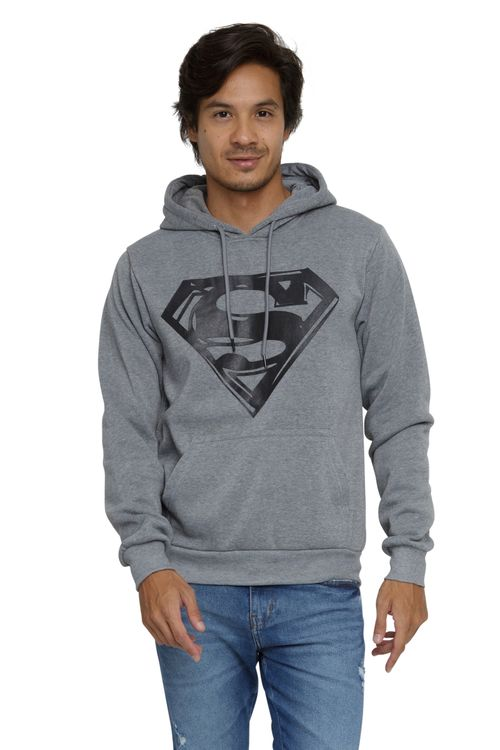 Moletom Masculino Superman Capuz Cinza