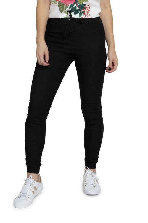 Calça Jeans Feminina Jogger Bengaline Preta