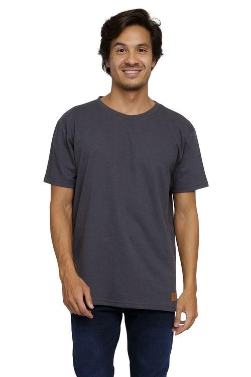 Camiseta Masculina Básica Chumbo