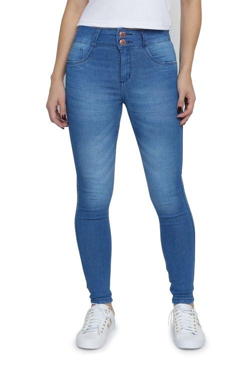 Calça Jeans Feminina Skinny Botões Duplos