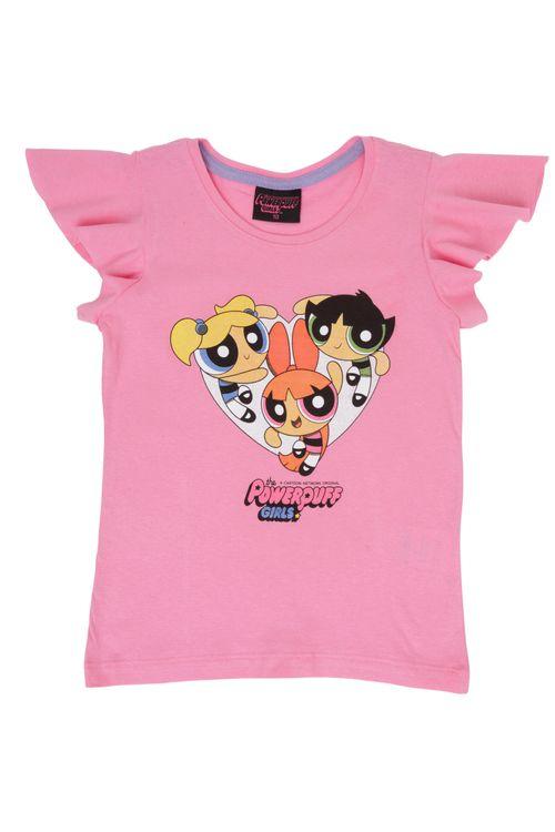 Blusa Infantil Feminina Superpoderosas Rosa