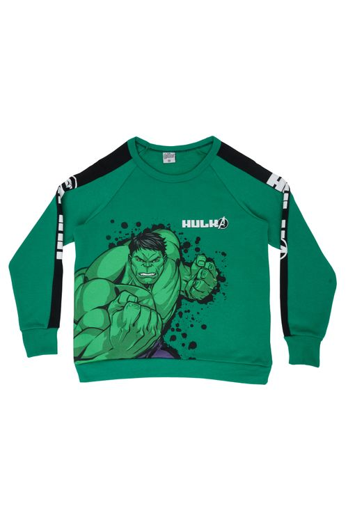 Moletom Infantil Masculino Hulk Faixa Verde