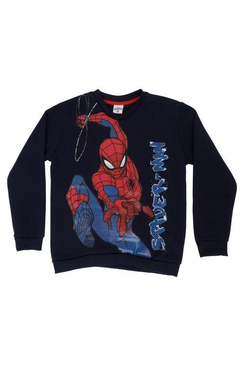 Moletom Infantil Masculino Homem-Aranha Preto