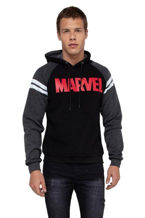 Moletom Masculino Marvel Preto