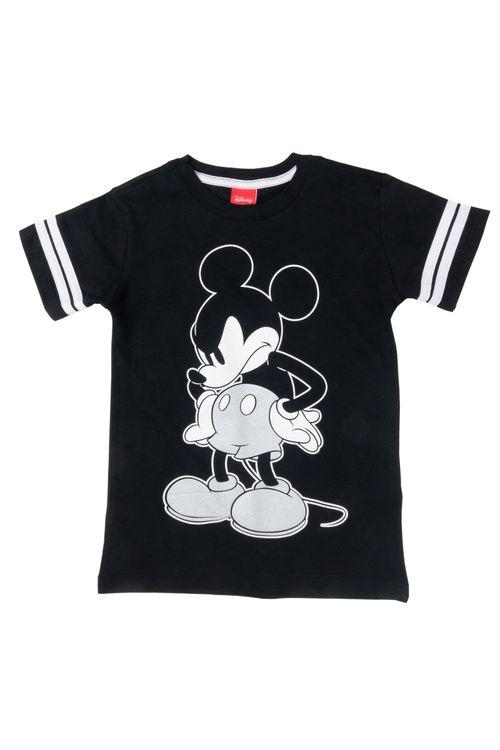 Camiseta Infantil Masculina Mickey Preta